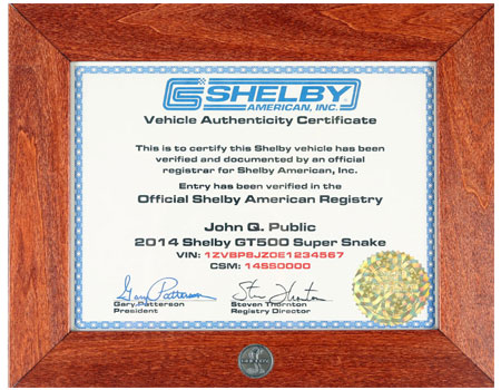 Register Your Shelby
